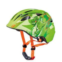 Casco bici Cratoni Akino (Kid) Tg. S (49-53cm) dinosauro verde lucido