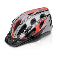 Casco bici XLC BH-C18 Tg.L/XL(54-58cm)rosso/grig dis 'etnico'