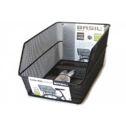 Cestino r.post Basil Cento WSL 39x24x21cm, nero,a maglia stretta
