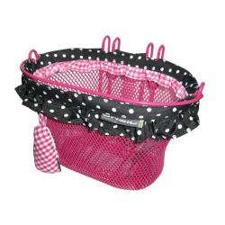 Cestino RAp.bici d.bambini,Jasmin-Basket 28X19X19cm, rosa, fitto.