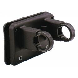KLICKfix Supporto per cestini al manubrio, nero, montaggio permanente