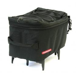 Borsa per portapacchi Pletscher Mini nero, per portapacchi con sistema