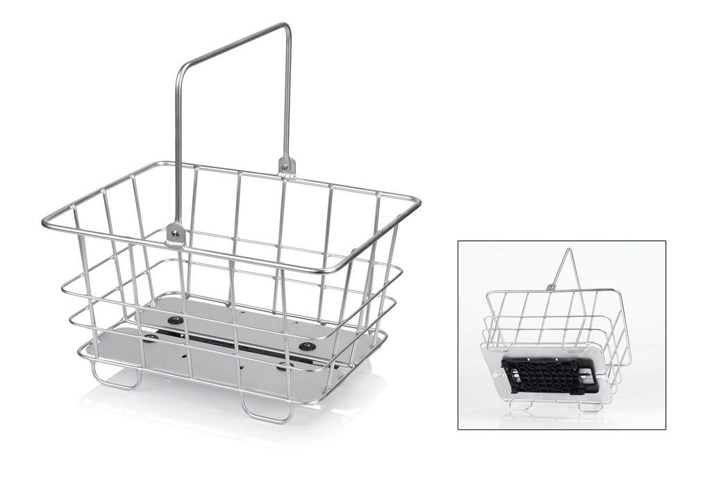 XLC cestino allum per portapacchi Adatto ai sistemi CarryMore Systeme