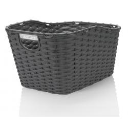 XLC cestino in polyrattan Carry More per portapacchi con sistema di fissaggio XLC, nero