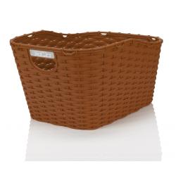 XLC cestino poly-rattan Carry More per portapacchi con sistema di fissaggio XLC, marrone