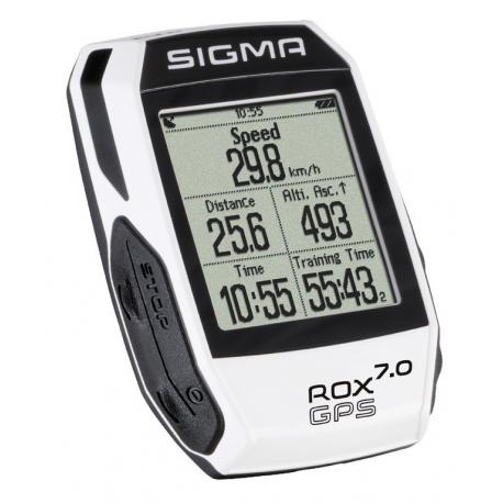 Ciclocomputer Sigma Rox 7.0 GPS bianco