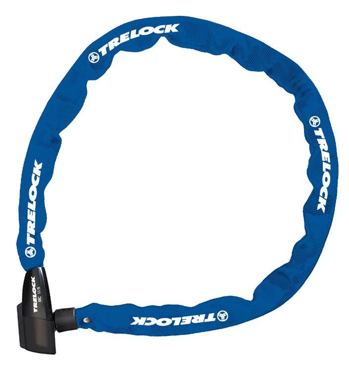 Lucchetto catena Trelock 110cm, Ø 4mm BC 115/110/4, blu, senza supporto