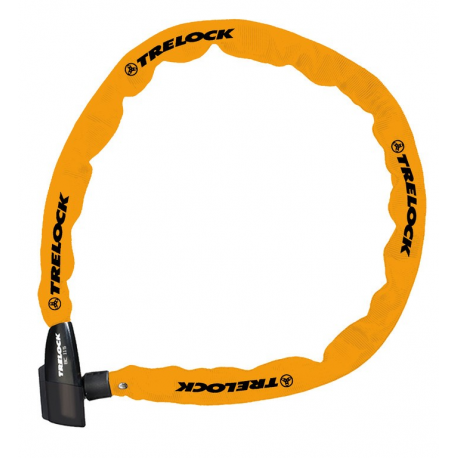Lucchetto catena Trelock 110cm, Ø 4mm BC 115/110/4, arancio, senza supporto