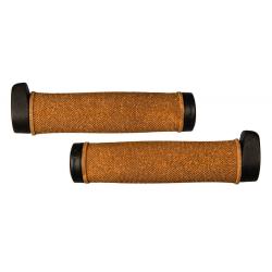 Coppia Manopole Herrmans Grit 140mm, Ø 22mm, nero/sughero