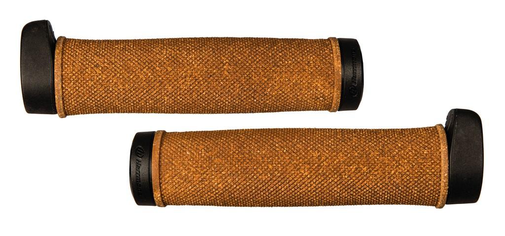 Manopole Herrmans Grit 140mm, Ø 22mm, nero/sughero, paio