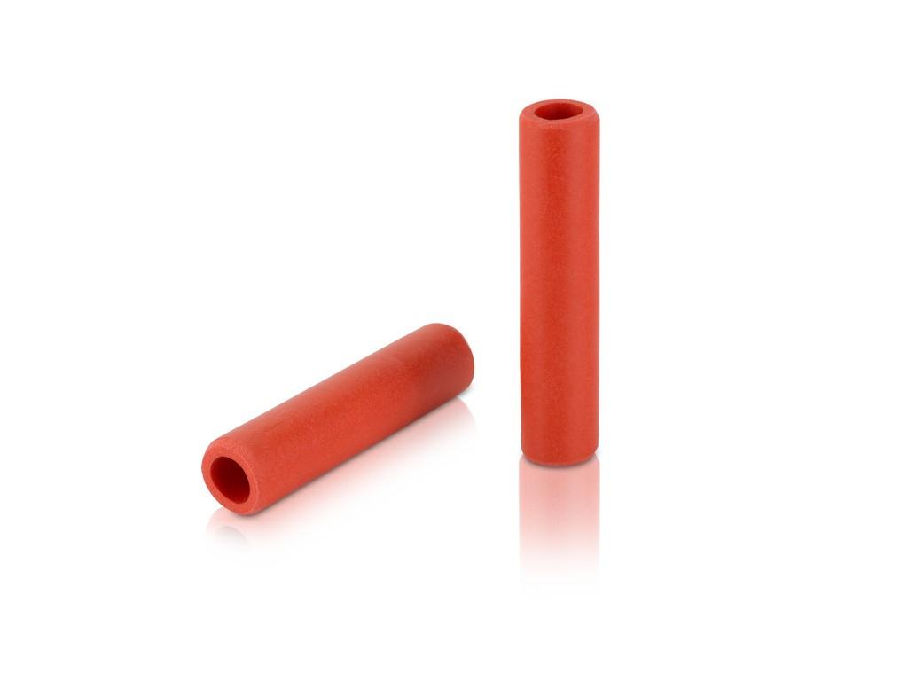 Manopole XLC silicone GR-S31 130mm, rosso, 100% silicone