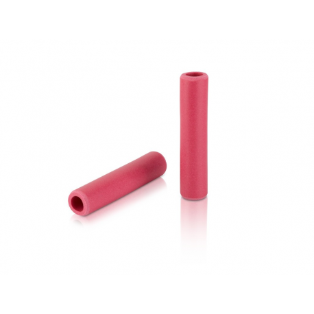 Manopole XLC silicone GR-S31 130mm, rubin red, 100% silicone