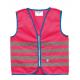 Gilet di sicurezza Wowow Fun Jacket per bambini pink con fasce riflTg.S