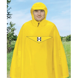 Poncho antipioggia Hock Rain Light giallo segnale T.XXL