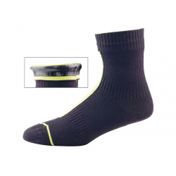 Calze SealSkinz Road Ankle Hydrostop T. XL (47-49) giallo/nero impermeabile