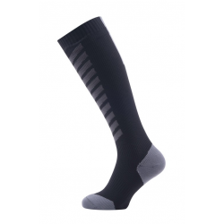 Calze SealSkinz MTB Mid Knee T. S (36-38) nero/grigio impermeabile