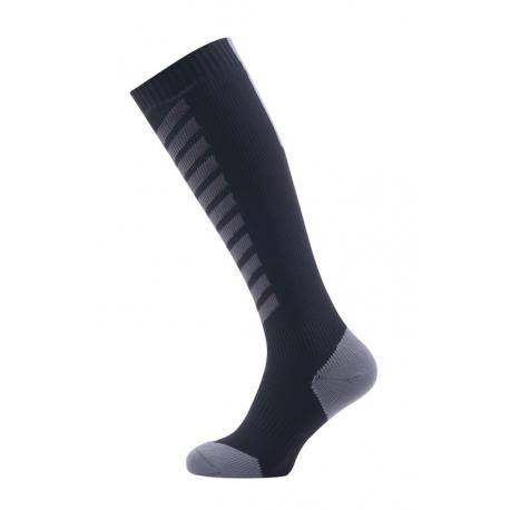 Calze SealSkinz MTB Mid Knee T. M (39-42) nero/grigio impermeabile