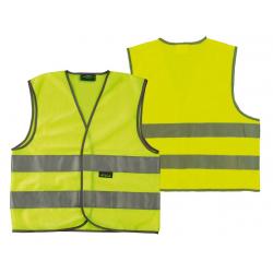 Gilet di sicurezza Wowow adulti Giallo con strisce riflettenti, taglia XL