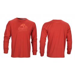 Maglia manica lunga Bergfieber MTN SPORTS rosso T. XL