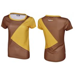 Multisportshirt Bergfieber NOTA Da cioccolato/senape T.L