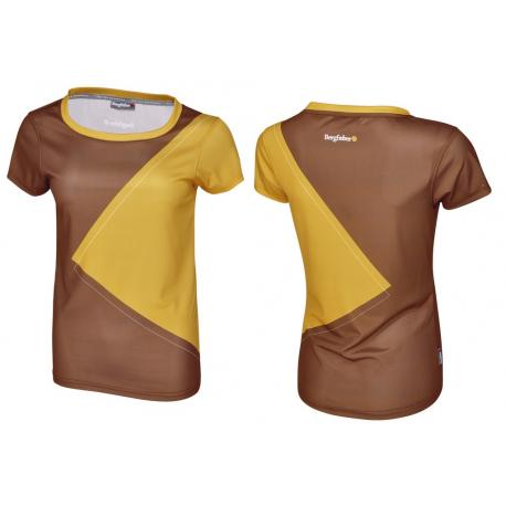 Multisportshirt Bergfieber NOTA Da cioccolato/senape T.S