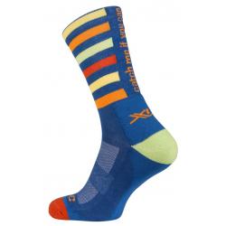 XLC All MTN calze CS-L02 Blu a strisce, taglia 39-41