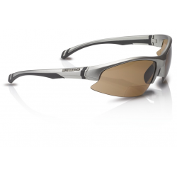 Occhiali sport Swisseye Slide Bifocal Mont.argento opaco/lente marrone 2,5 dpt