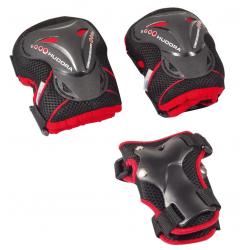 Set protezioni Hudora per Scooter+Inliner nero/rosso, Tg. M Grant