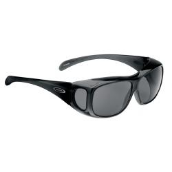 Occhiali da sole Alpina Overview montatura nera lenti nere
