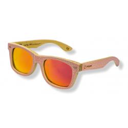 Occhiali da sole Melon Elwood Pink, lenti a specchio rosse-arancioni