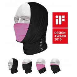 Sciarpa multiuso T-One Pro-Mask nero/purple, Bamboo/Lycra