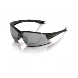 XLC occhiali da sole Palermo SG-C15 montatura nera, lenti fumo a specchio