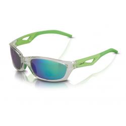 XLC occhiali da sole Saint-Denise SG-C14 montatura grigia, lenti verdi a specchio