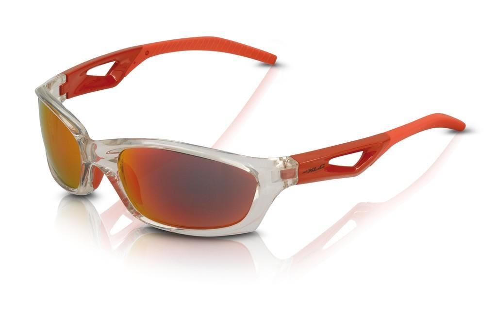 XLC occhiali da sole Saint-Denise SG-C14 montatura grigia, lenti rosse a specchio