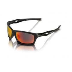 XLC occhiali da sole Kingston SG-C16 montatura nera, lenti rosse a specchio