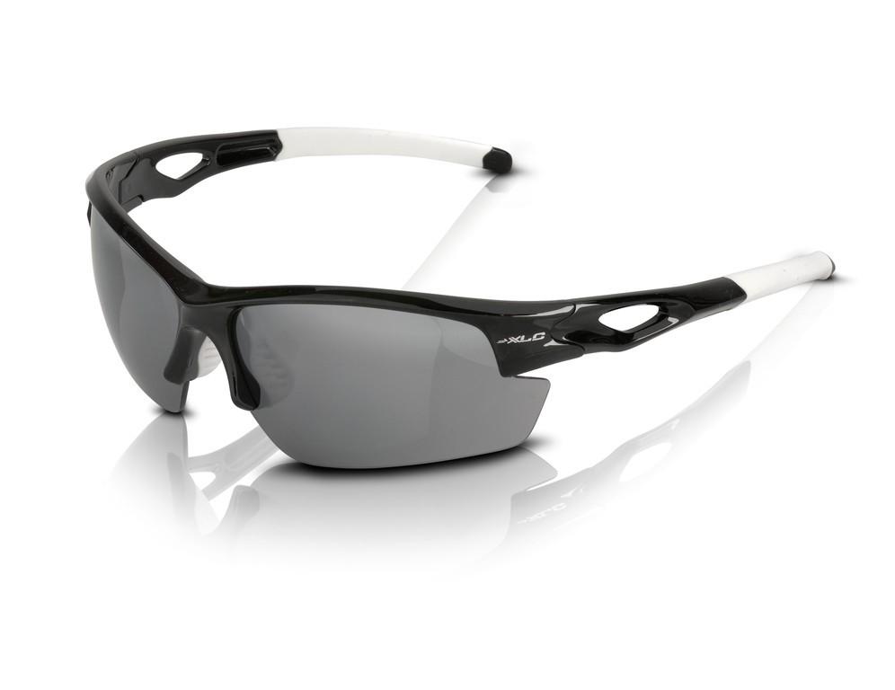 XLC occhiali da sole Male' SG-C12 montatura nera, lenti fumo