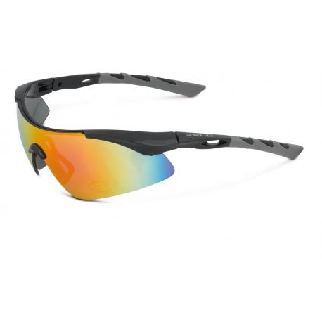 XLC occhiali da sole Komodo SG-C09 Montatura nera/grigia, lenti a specchio