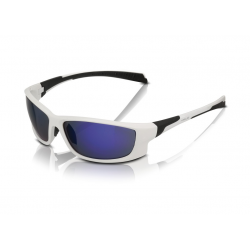 XLC occhiali da sole Nassau SG-C11 montatura bianca, lenti blu