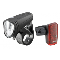 Set Fanali LED AXA GreenLine 15 a batteria, cavo USB incluso