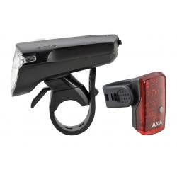 Set Fanali a batteria AXA GreenLine 35, cavo USB incluso