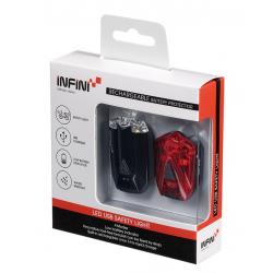 Set minibeamer Infini I-260 anteriore & posteriore nero con presa USB