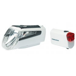 Faro a batteria LED Set Trelock I-go LS 560/720 Control bianco con supporto