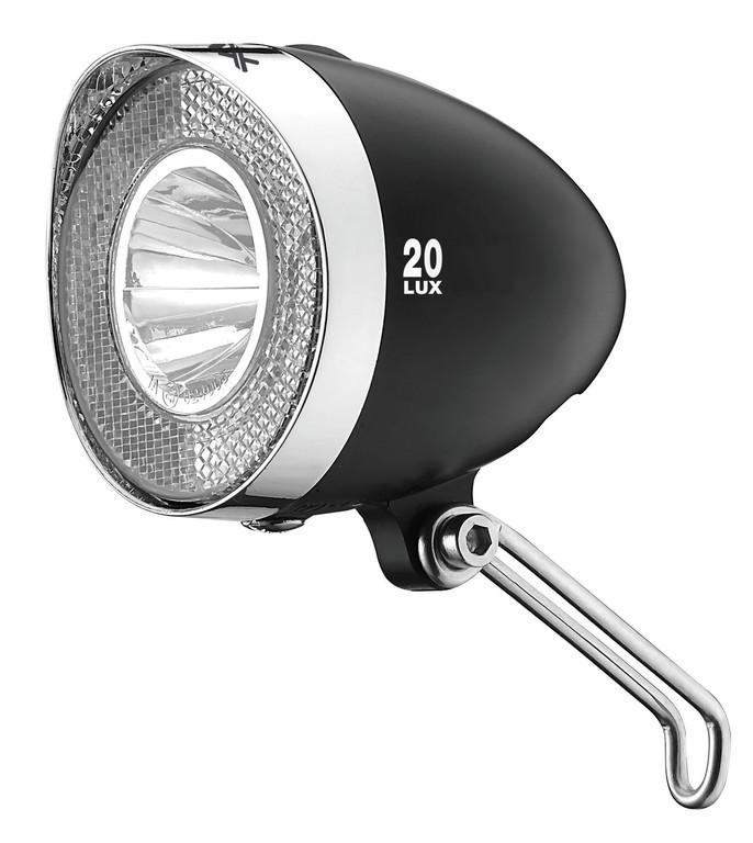 Fanale LED a batteria XLC Con StVZO per tutte le bici, nero 20 Lux