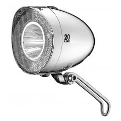 Fanale LED a batteria XLC Con StVZO per tutte le bici,cromo 20 Lux