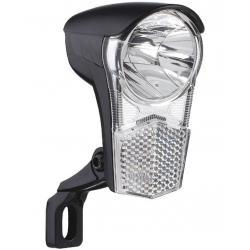Fanale LED dinamo Uni LED ca.15 Lux, con supporto e interruttore
