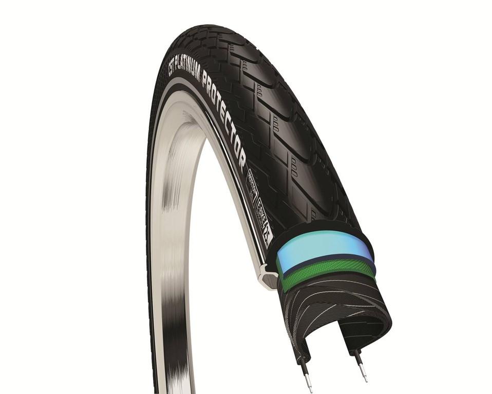 """Copertone CST Platinum Protector 28x1 5/8 x 1 3/8"""" 37-622 nero Reflex"""
