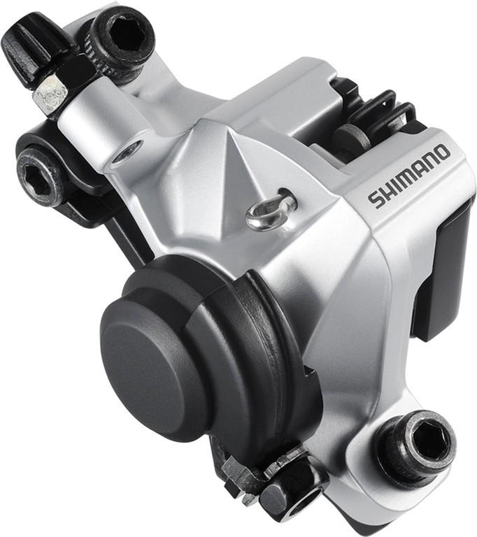Pinza freno a disco Shimano BR-M 375 Ruota anteriore o posteriore, meccanico, silver, senza disco