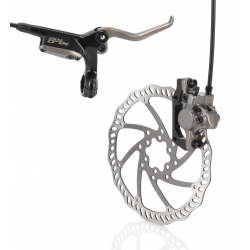XLC Pro freni a disco HR BR-D03 Ruota ant, nero/titanio, Ø 180mm, 1000mm