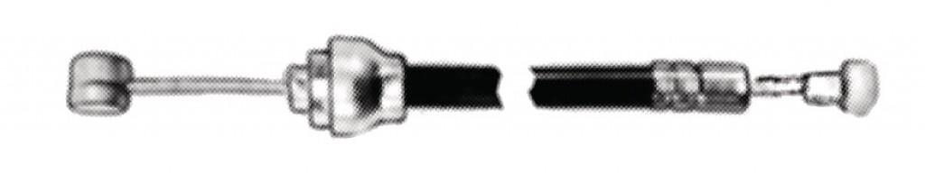 Cavo freno completo con guaina 830/700mm nipplo trasv./nipplo pera