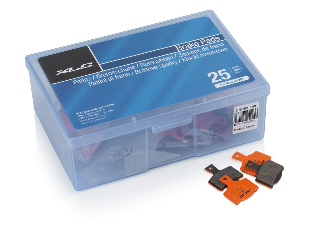 Pastiglie freno a disco XLC, Magura MT-BP032, Confezione officina, 25 set
